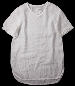 AUGUSTE-PRESENTATION「 リネン半袖プルオーバー / WHITE 」