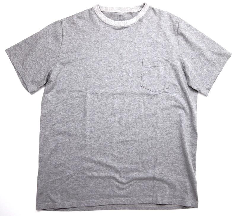 GOWN&FOUNDATION GARMENTS「丸胴半袖 ポケット付きスウェッティ/杢GREY」