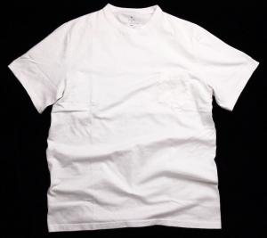 GOWN&FOUNDATION GARMENTS「丸胴半袖 ポケット付きスウェッティ/WHITE」