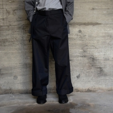 AURALEE「 FINX CHAMBRAY BELTED WIDE PANTS 」