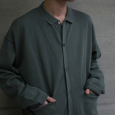 crepuscule 「 Knit Polo L/S / Green 」