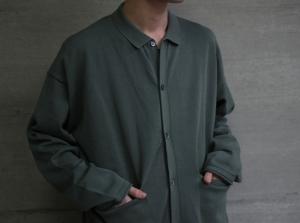 crepuscule 「 Knit Polo L/S / Green 」
