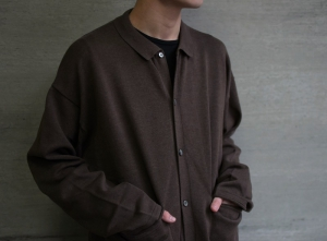 crepuscule 「 Knit Polo L/S / Brown 」