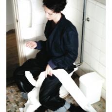 ESSAY「P-3 : OVERSIZED TAPERED PANTS  / indigo」--02