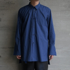ESSAY「SH-3 : LONG DRESS SHIRT/ indigo stripe 」