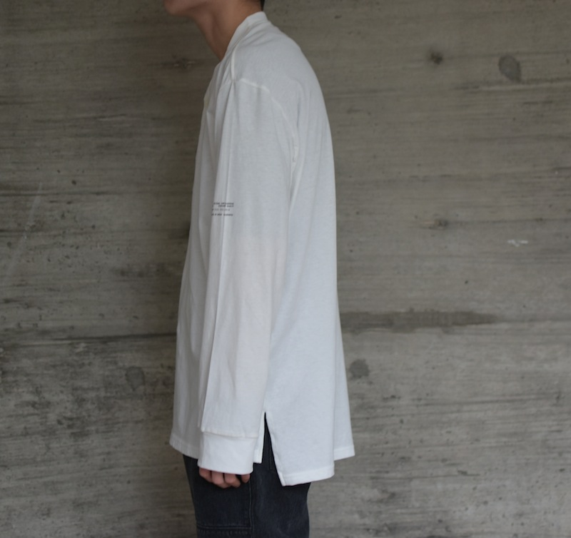 ESSAY「TS-3:HENLY NECK L/S TEE / white」