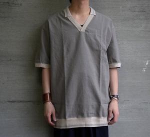 """the Sakaki「居間着 """"乙"""" -ポロシャツ-」"""