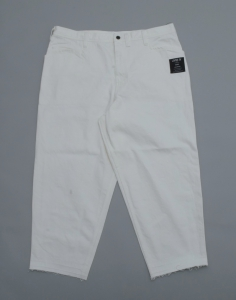 ESSAY「P-3 : OVERSIZED TAPERED PANTS  / white」