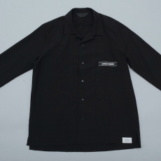 ESSAY「SH-1 : OPEN COLLAR DRESS SHIRT/ black 」