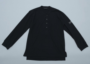 ESSAY「TS-3:HENLY NECK L/S TEE / black」