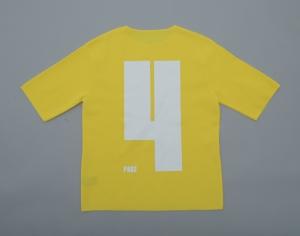 ESSAY×crepuscule「KN-1 : MILANO RIB KNIT-TEE  / yellow」