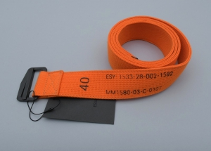 ESSAY「A-1B:MILITARIA ACRYLIC BELT / orange」