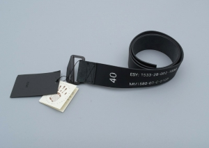 ESSAY「A-1A:MILITARIA LEATHER BELT / black」