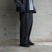 AURALEE「SELVEDGE WEATHER CLOTH EASY PANTS / INK BLACK」