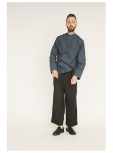 WHOWHAT「AFTER PARTY SHIRT / SMOKY BLUE 」