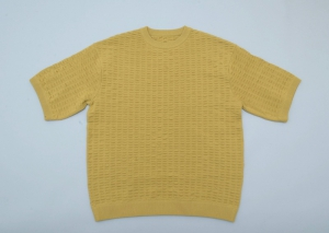 crepuscule「S/S Knit / Yellow」