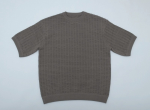 crepuscule「S/S Knit / Brown」