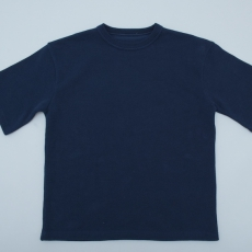crepuscule「Highgage Moss Stitch S/S Cutsew / Navy」