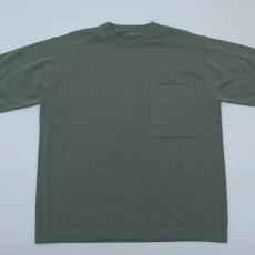 crepuscule「Pocket Knit S/S / Green」