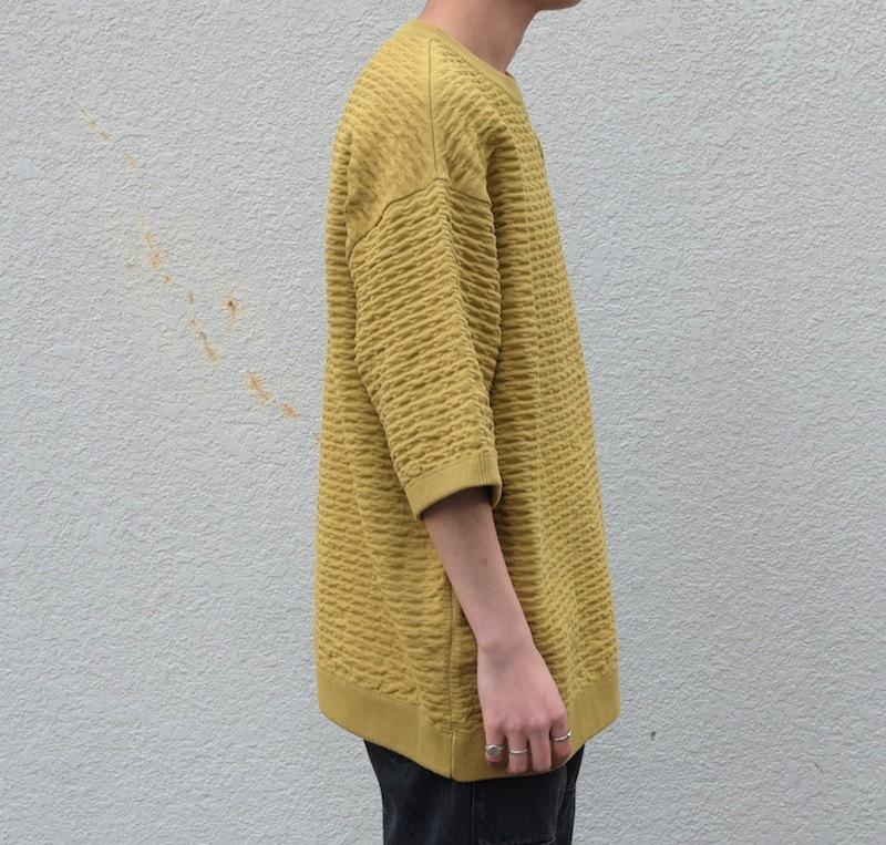 crepuscule「S/S Knit / Yellow」