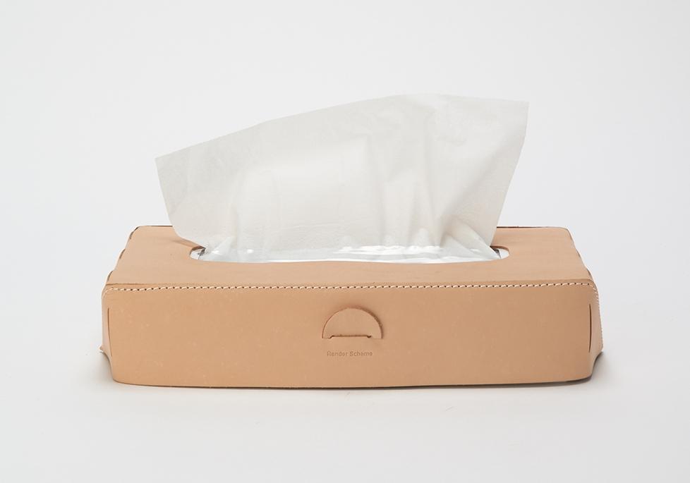 Hender Scheme「tissue box case / natural 」