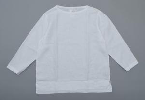 AUGUSTE-PRESENTATION PajamaLook「リネンシーツ長袖プルオーバー / WHITE 」