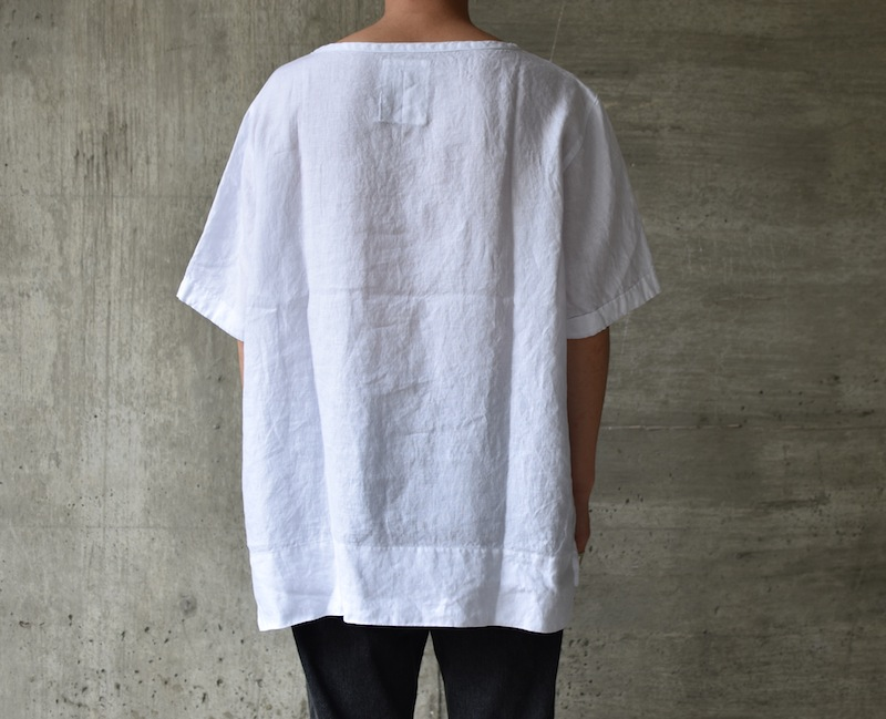 AUGUSTE-PRESENTATION PajamaLook「リネンシーツ半袖プルオーバー /  WHITE 」
