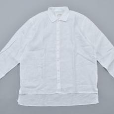 AUGUSTE-PRESENTATION PajamaLook「リネンシーツ長袖レギュラーカラーシャツ / WHITE 」