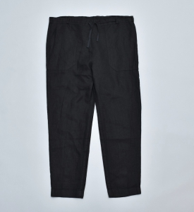 AUGUSTE-PRESENTATION PajamaLook「リネンシーツ イージーパンツ / BLACK 」