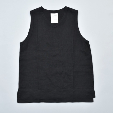 AUGUSTE-PRESENTATION PajamaLook「リネンシーツノースリーブプルオーバー / BLACK 」