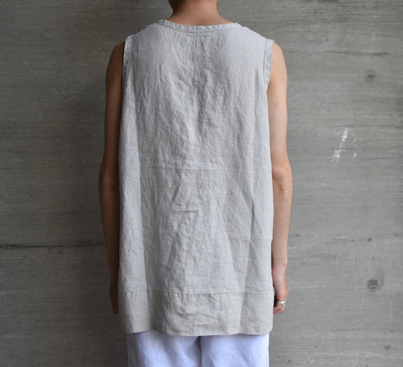 AUGUSTE-PRESENTATION PajamaLook「リネンシーツノースリーブプルオーバー / L.GREY 」