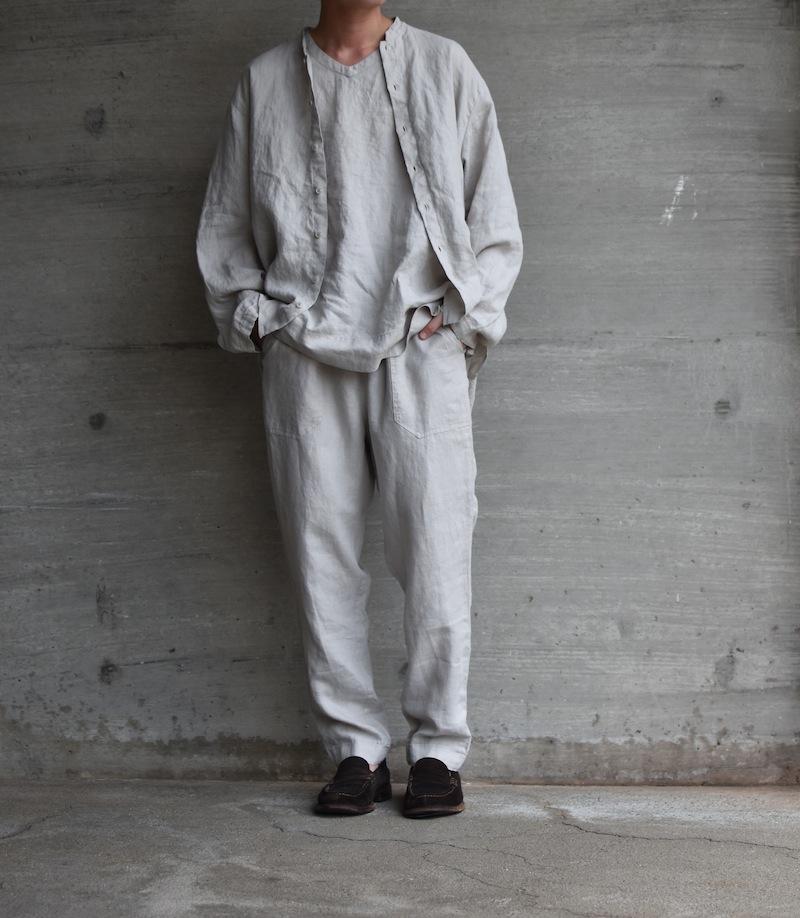 AUGUSTE-PRESENTATION PajamaLook「リネンシーツ イージーパンツ / L.GREY 」