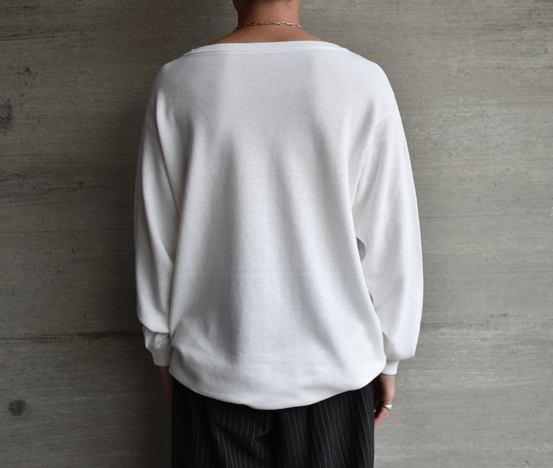 the Sakaki「the Bang U-NECK L/S (編物):White」