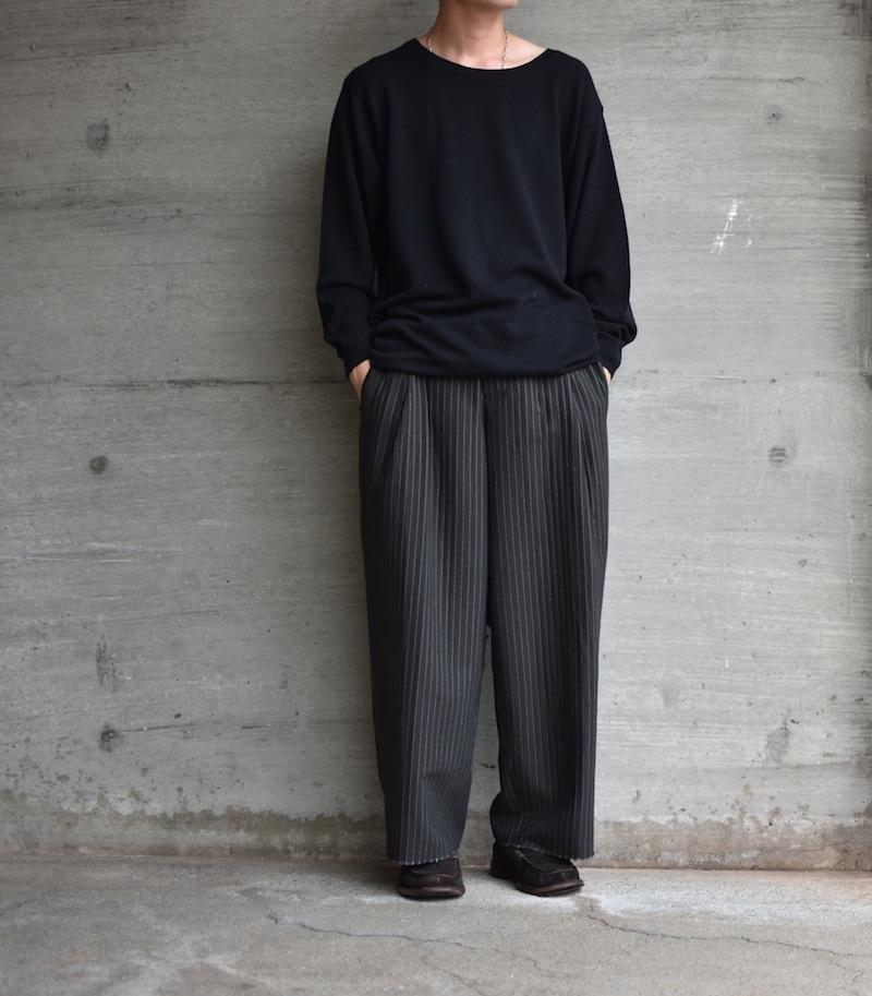 the Sakaki「the Bang U-NECK L/S (編物):Black」
