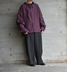 WHOWHAT「 5X SHIRT〈SHORT〉/ PLUM PURPLE  」