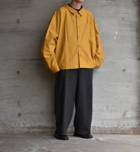 WHOWHAT「 5X SHIRT〈SHORT〉/ MUSTARD  」