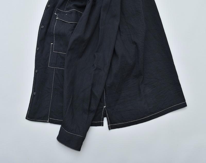 ESSAY「SH-2 - COLLARLESS SHIRT / black」