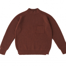 OLD JOE BRAND.「MOCK NECK POCKET SWEATER / CAYENNE」