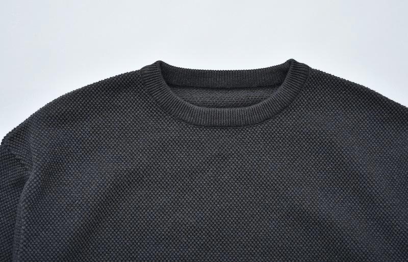 crepuscule 「Moss Stitch L/S  : C.Gray」