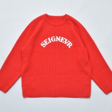 ESSAY「 KN-1 - OVERSIZED RIB KNIT / red 」