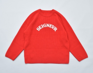 ESSAY × crepuscule「 KN-1 - OVERSIZED RIB KNIT / red 」