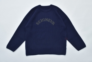 ESSAY「 N-1 - OVERSIZED RIB KNIT / navy 」
