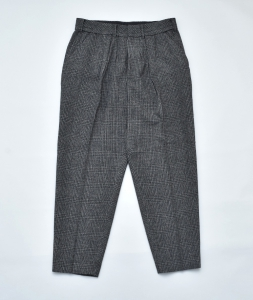 ESSAY「 P-1 - WIDE TAPERED SLACKS /  gren check  」