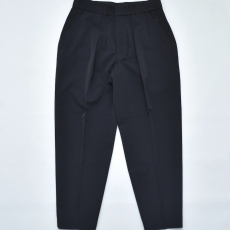 ESSAY「 P-1 - WIDE TAPERED SLACKS /  black  」