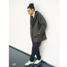 AURALEE 「 HEAVY MELTON HOODED COAT 」