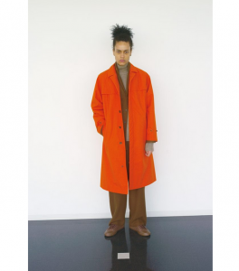 AURALEE 「 HIGH COUNT CLOTH BATTING LONG COAT / ORANGE 」