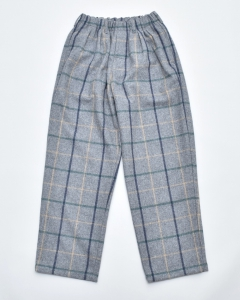 COMFORTABLE REASON 「 Wool 2Tack Laziest Slacks / Gray checks 」