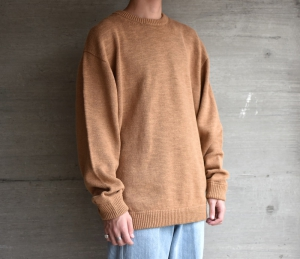 crepuscule「 Whole Garment L/S Knit :Camel 」