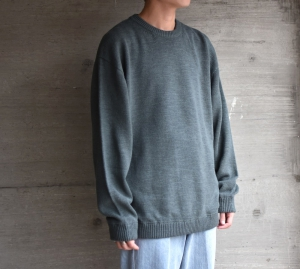 crepuscule「 Whole Garment L/S Knit :Green 」
