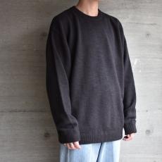 crepuscule「 Whole Garment L/S Knit :Black 」